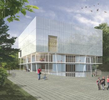 Modélisation 3D, Stabilité - Ecole d'infirmière et hall de sport, Poelbos Bruxelles
