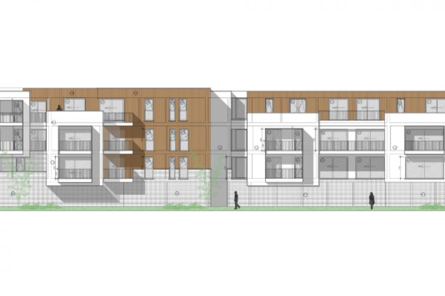 Soutien à la réalisation des plans d'urbanisme, Immeuble résidentiel - Ecaussinnes