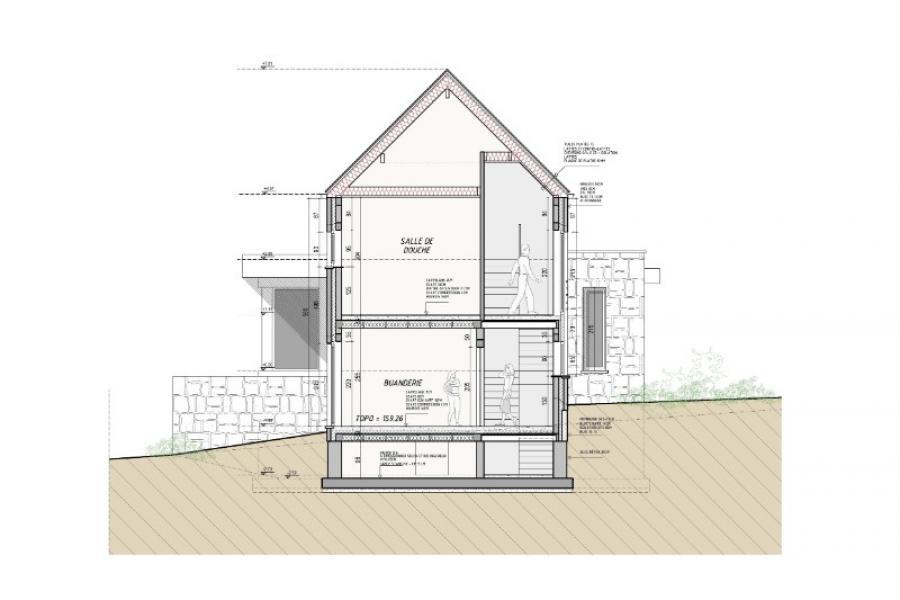 Avant-projet, habitation unifamiliale + cabinet  profession libérale  - Gembloux